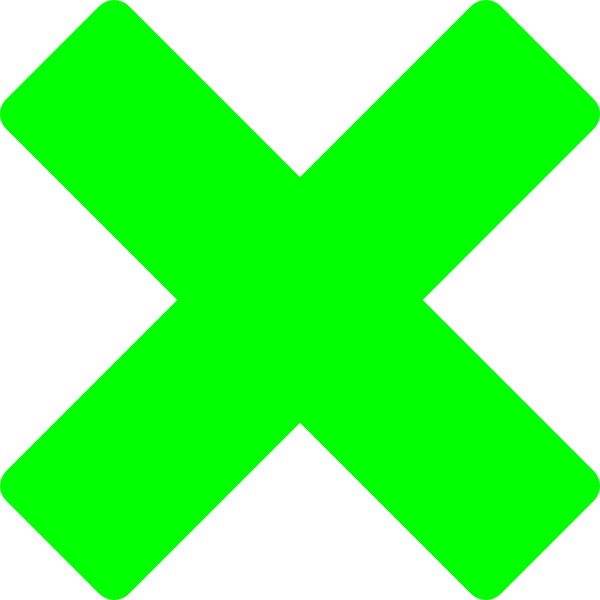 Green X Clip Art at Clkercom  vector clip art online