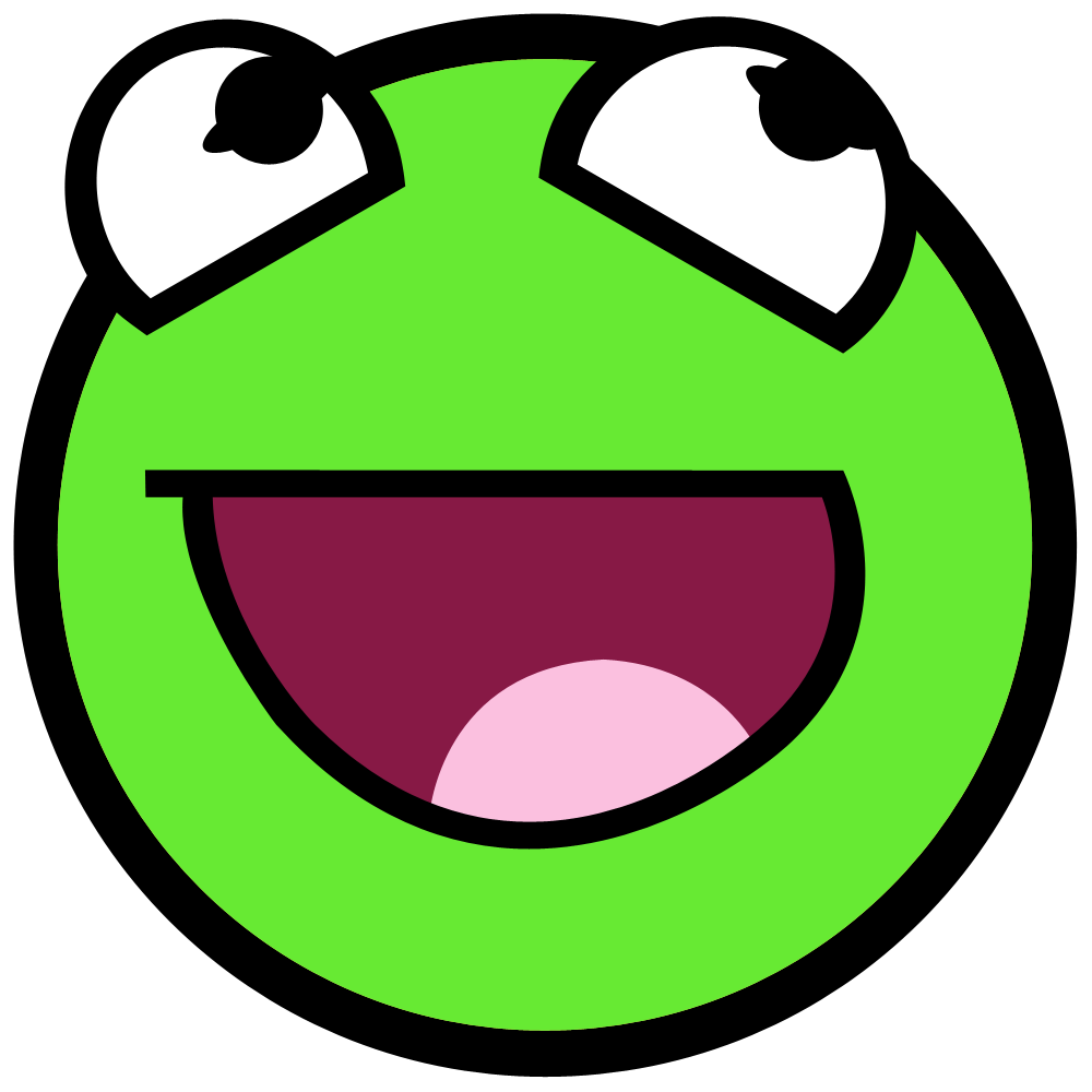 Green Smiley Face PNG Transparent Background Free