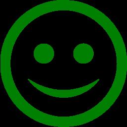 Green happy icon  Free green emoticon icons