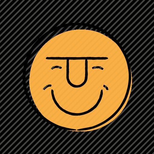 Emoticon handdrawn happy smily icon