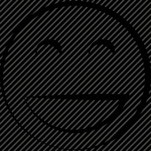 Emoji face happy smile smiley icon