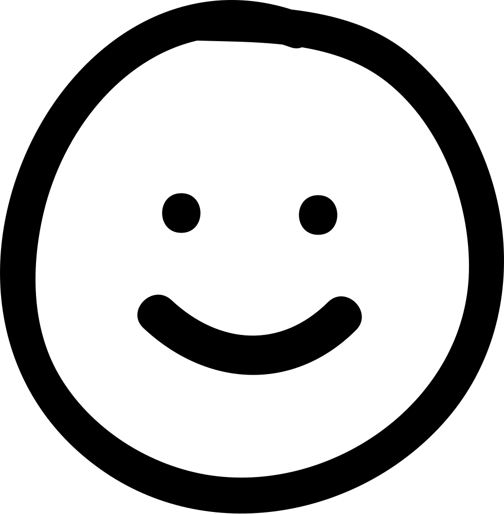 Smile Hand Drawn Emoticon Svg Png Icon Free Download