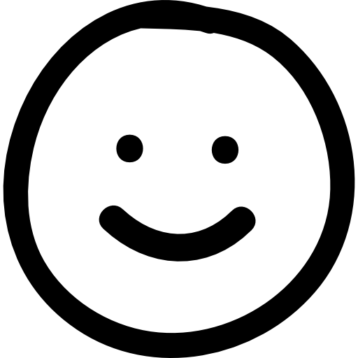 Smile hand drawn emoticon  Free people icons
