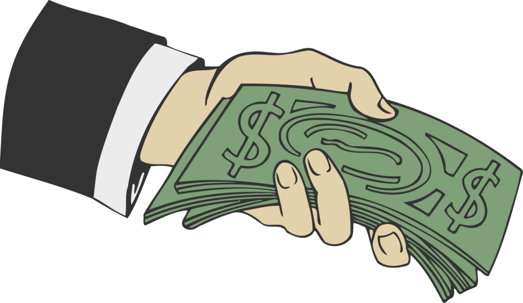Library of people with money in their hand image free png