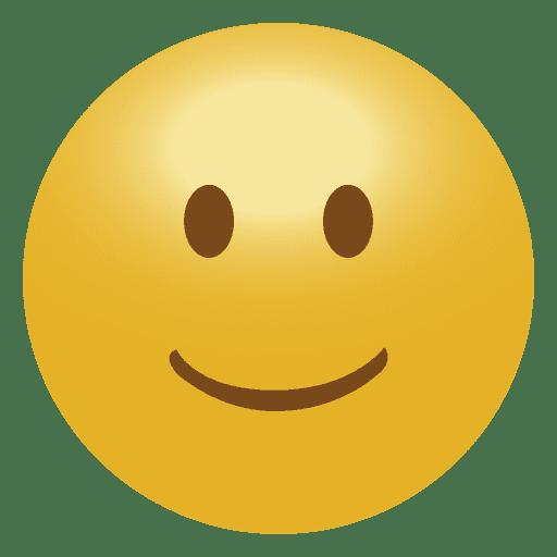 3D smile emoticon emoji  Transparent PNG  SVG vector file