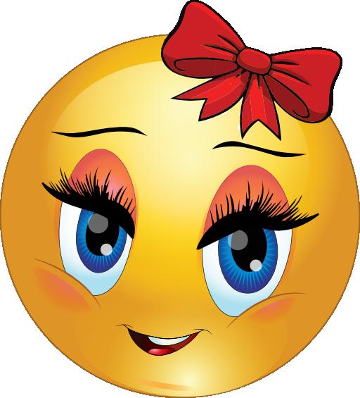 Girl Smiley Emoticons  girl smiley emoticon clipart