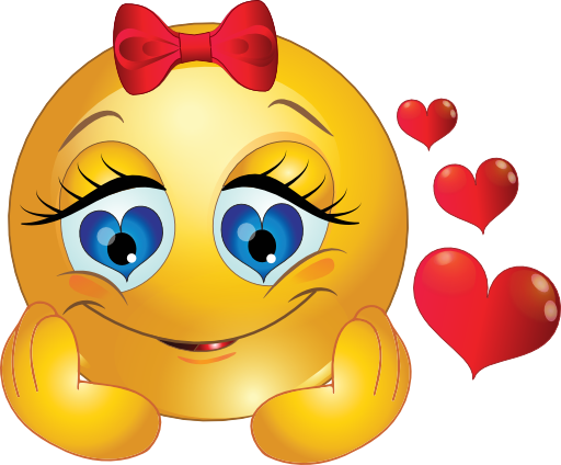 Girl Smiley in Love  Smiley Smileys and Emojis