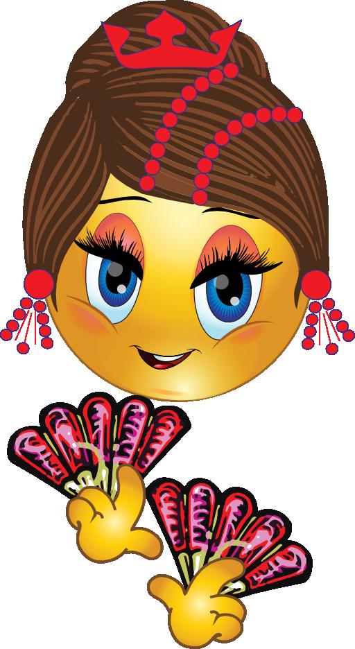Pretty Spanish Girl Smiley Emoticon Clipart  i2Clipart