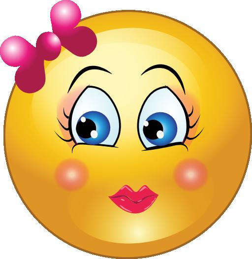Pretty Girl Smiley Emoticon Clipart  i2Clipart  Royalty