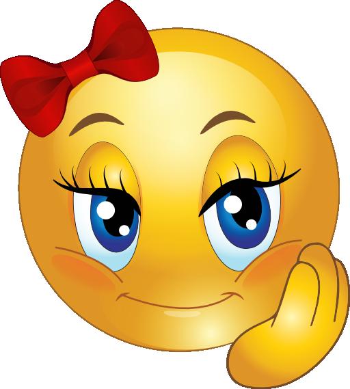 Cute Girl Smiley Faces  Cute Pretty Girl Smiley Emoticon