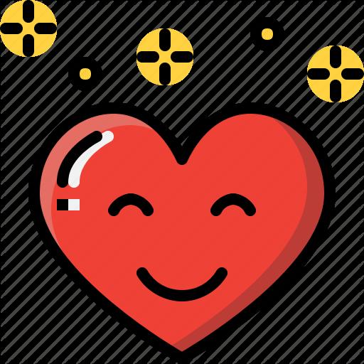 Emoji emotion feeling happy heart love valentine icon