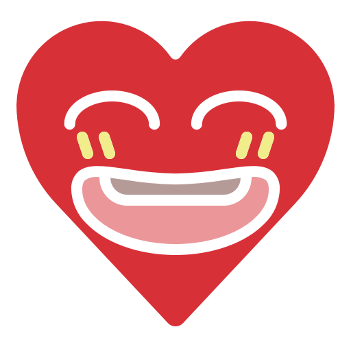 Emoji emotion happy heart joke smile icon