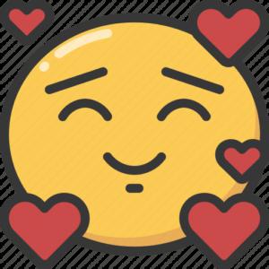 Emoji, emoticon, happy, hearts, in, love, loved icon - Happy Heart Emoji