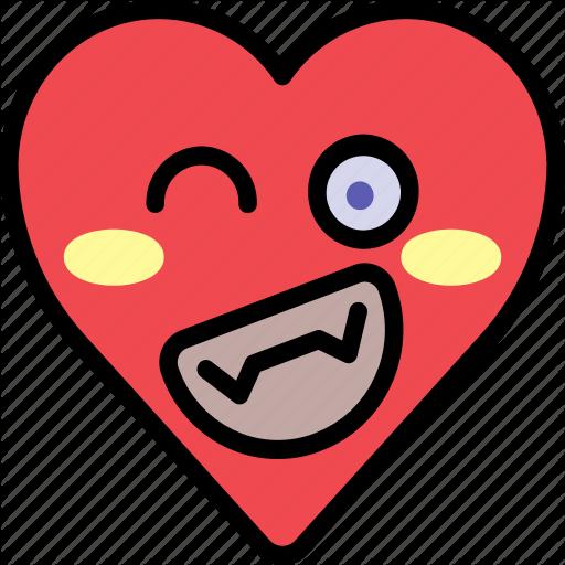 Emoji emotion funny happy heart smile icon