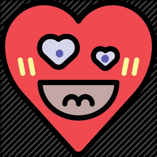 Crush emoji emotion happy heart love icon  Download