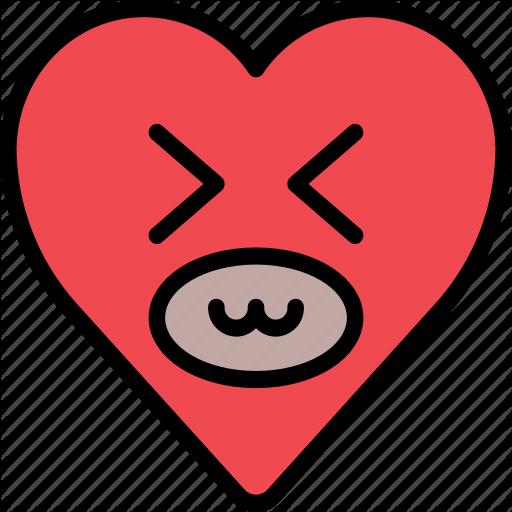 Emoji emotion happy heart laugh smile icon