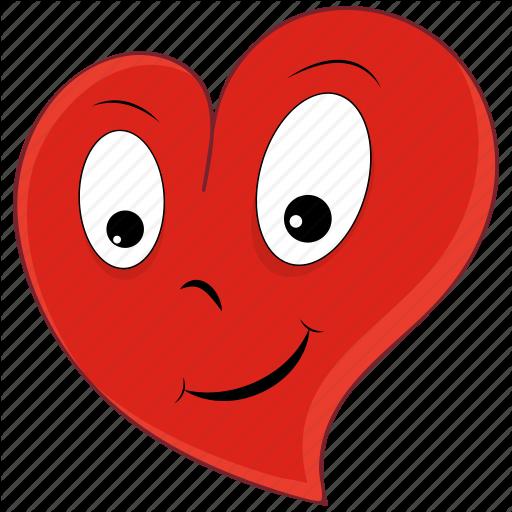 Emoji emoticon happy heart love valentine valentines