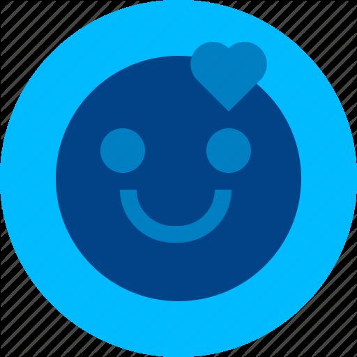 Emoji emoticon emotion happy heart love smile icon