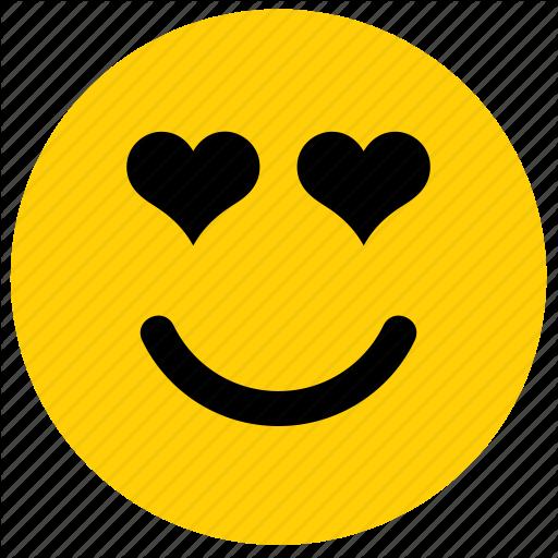 Emoji emoticon face happy heart love smile icon