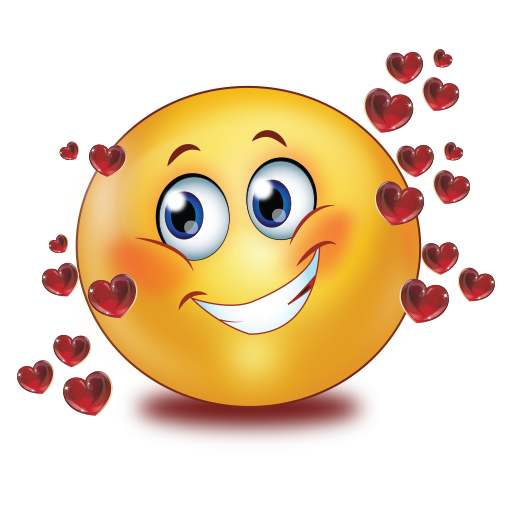 In Love With Red Glossy Flying Hearts Emoji