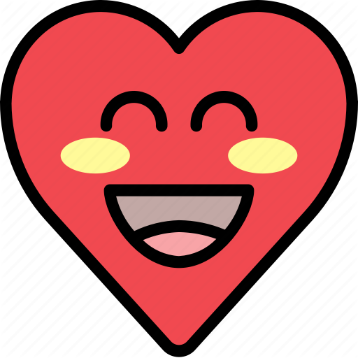 Emoji emotion happy heart smile icon  Download on