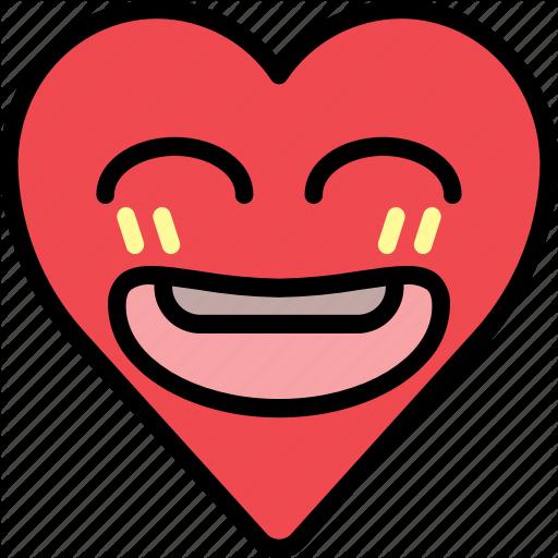 Emoji, emotion, happy, heart, joke, smile icon - Happy Heart Emoji