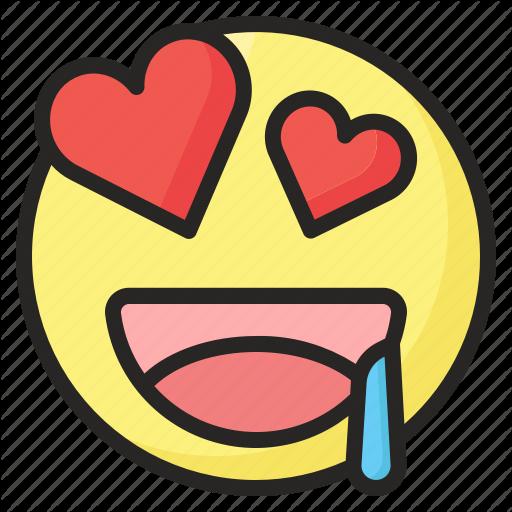 Emoji emoticon eyes happy heart love smile icon