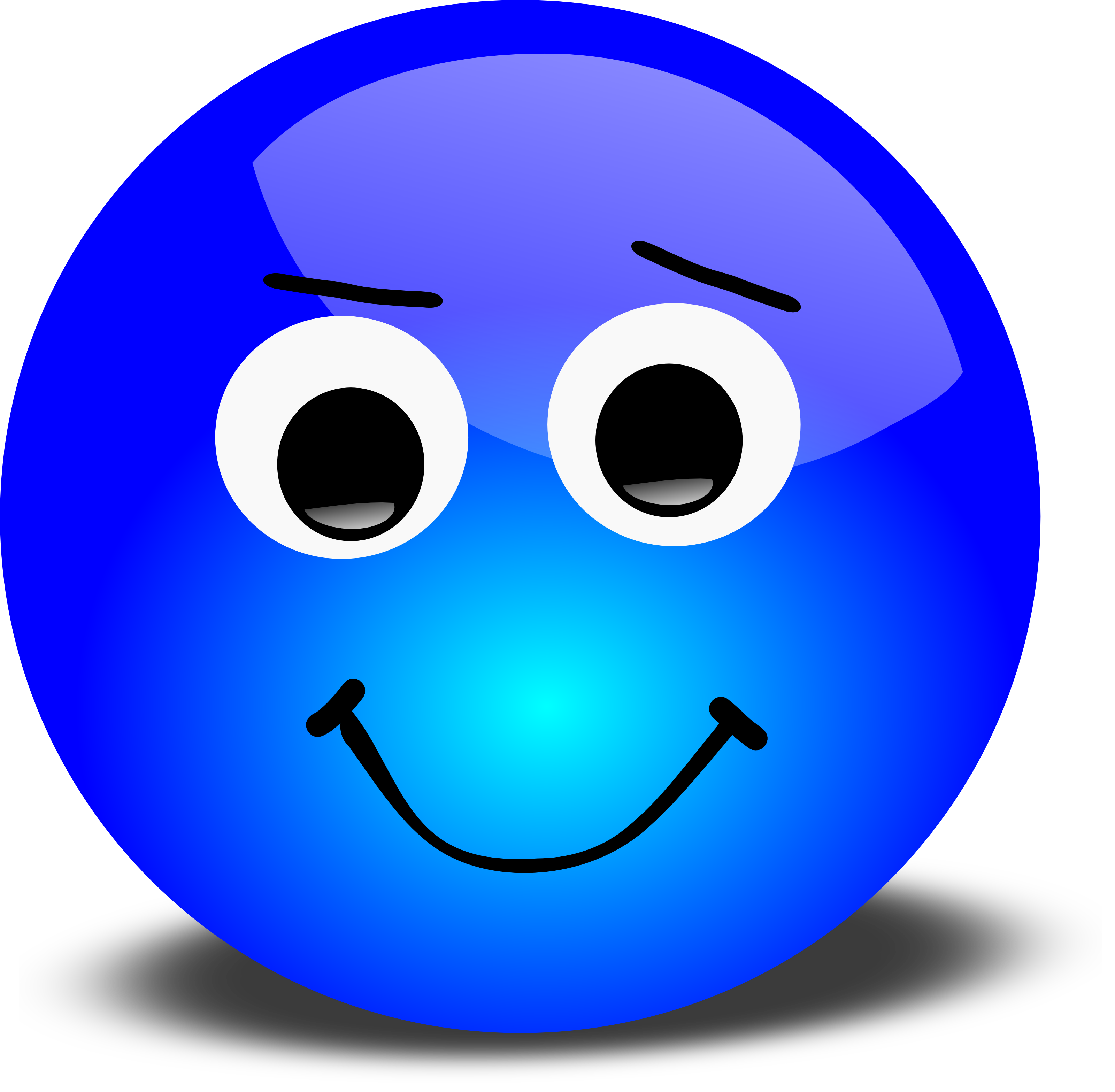 Smiley Face With Mustache And Thumbs Up | Clipart Panda ... - Happy Smiley Face Cartoon