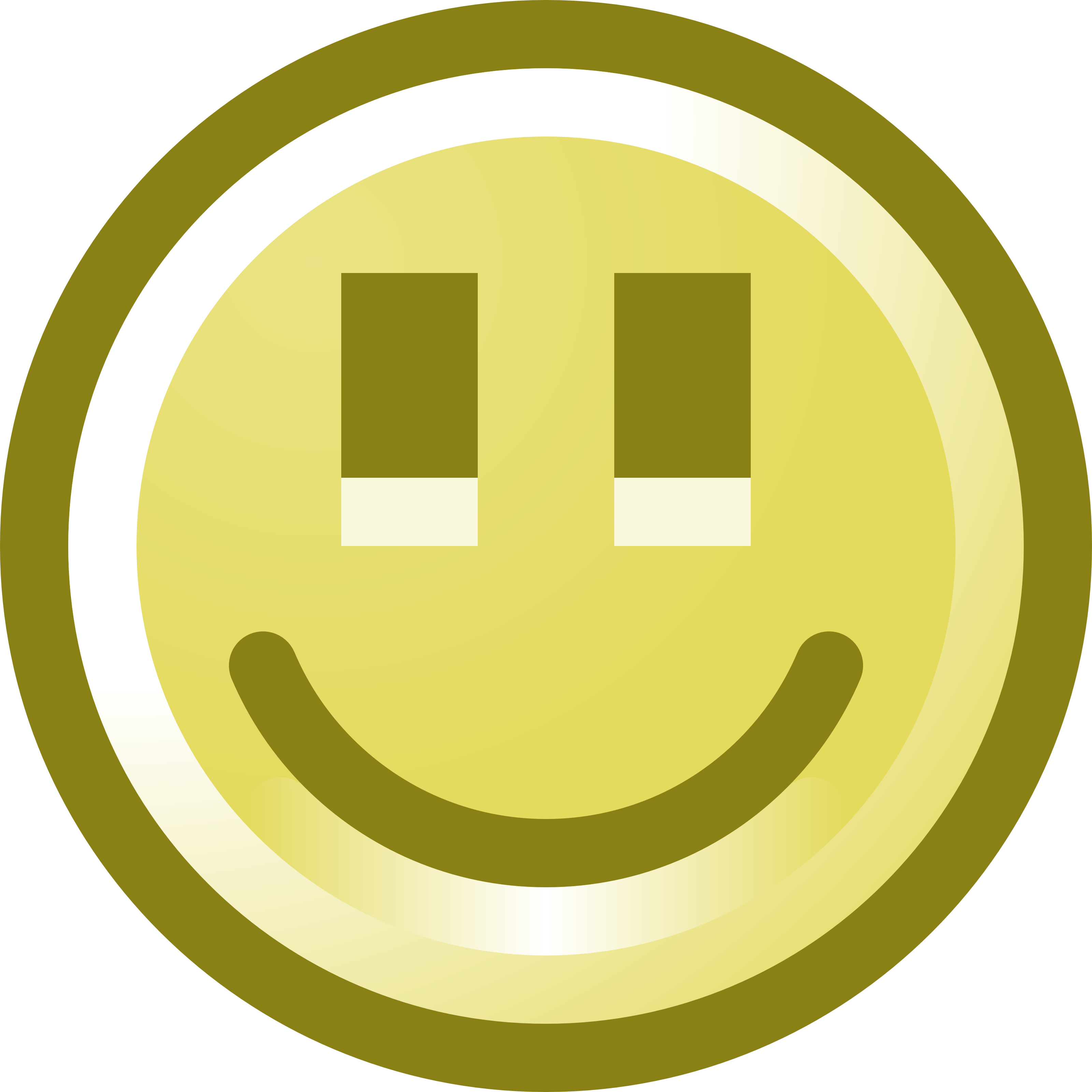 Free Smiling Smiley Face Clip Art Illustration - Happy Smiley Face Cartoon