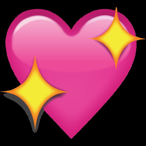 Download Sparkling Pink Heart Emoji Icon  Emoji Island