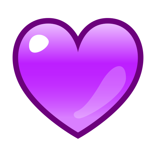 Purple Heart Emoji Png