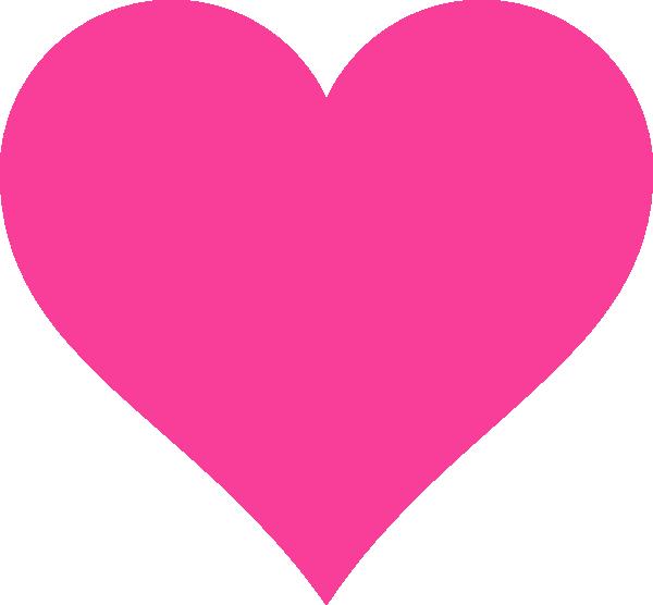 pink heart  Heart clip art Clip art Love heart emoji