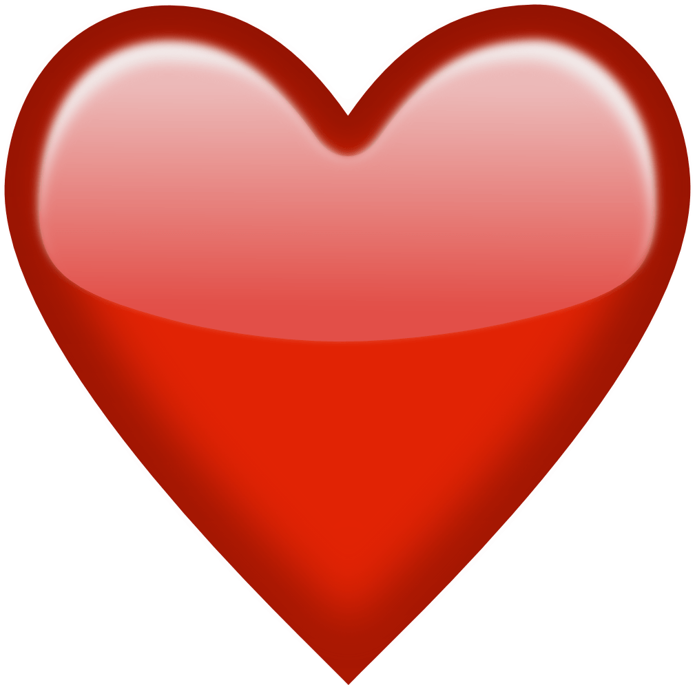 Emoji Red Heart Png Clipart