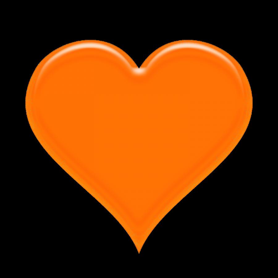 Png Orange Heart  Love heart emoji Heart clip art