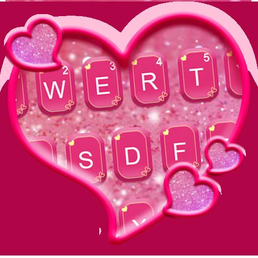 برنامه Glitter Heart Emoji Keyboard    دانلود  کافه بازار
