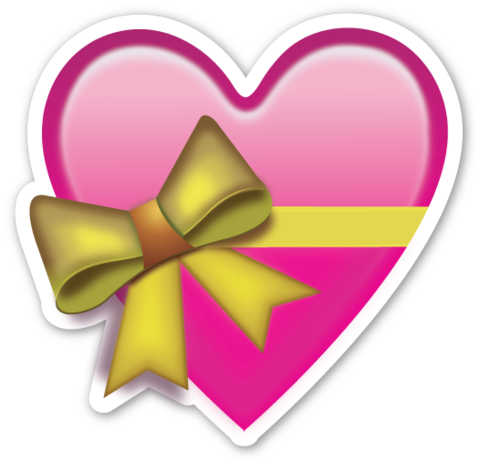 Heart with Ribbon With images  Emoji stickers Heart