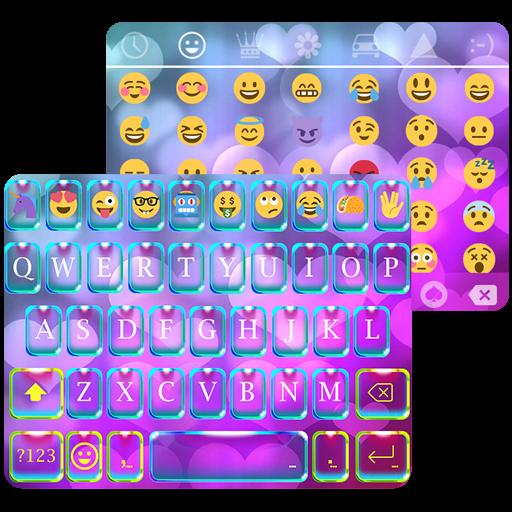 دانلود برنامه Rainbow Heart Theme  Emoji Keyboard