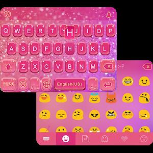 Download Glitter Heart Emoji Keyboard for PC