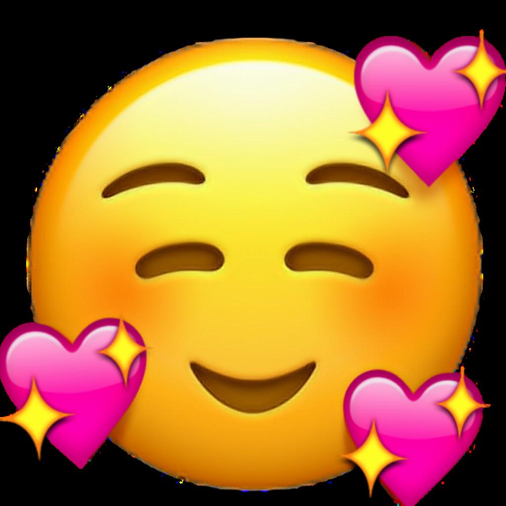 emoji ios iphone whatsapp pink love heart meme edited