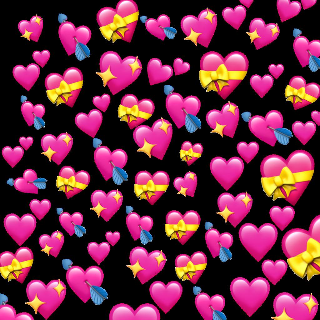 Transparent Png Heart Emoji Meme Overlay
