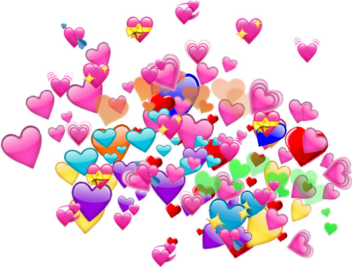 Rainbow heart emoji for your all memes