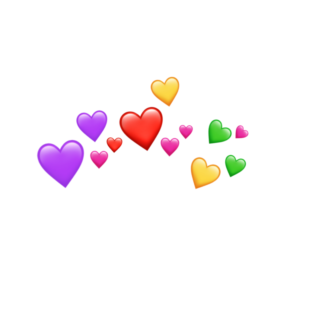 emoji emojis heart crown hearts