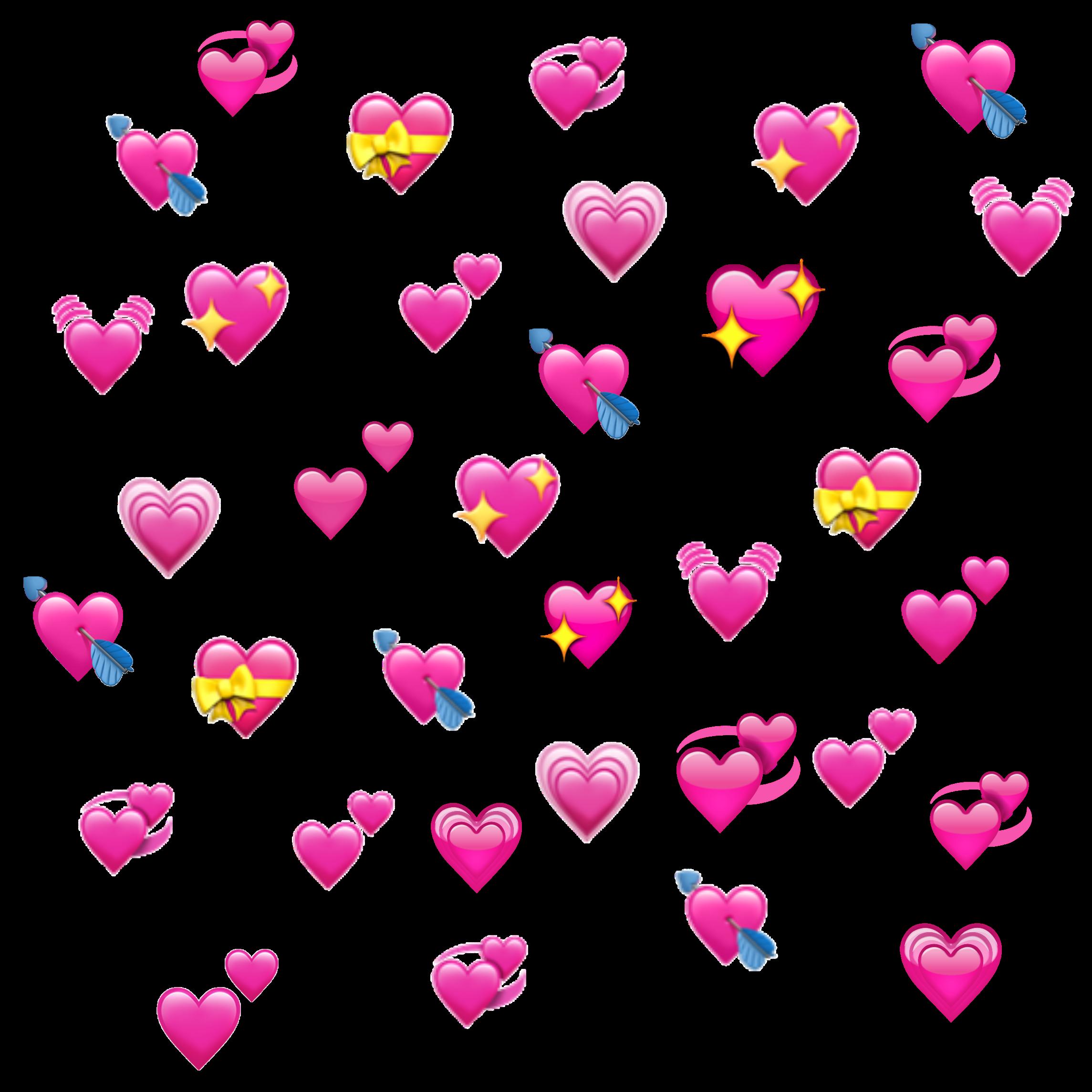 hearts heart emoji emojis heartemoji edit edits... - Heart Emoji Meme