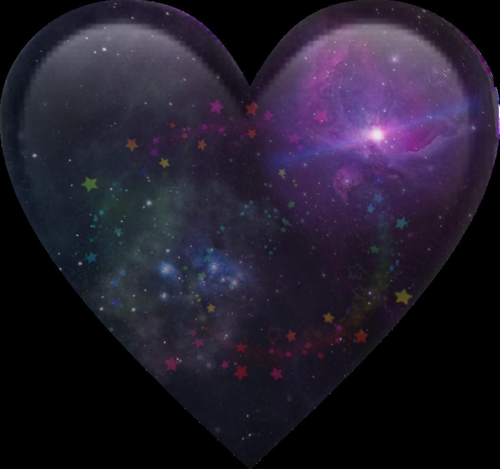 heart black galaxy emoji heartemoji galaxyheart stars