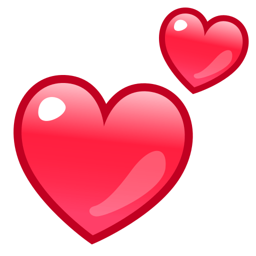 Two Hearts Emoji for Facebook Email  SMS  ID 11079