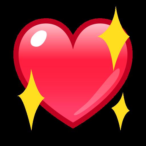 Sparkling Heart  ID 12944  Emojicouk