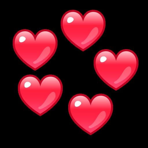 Revolving Hearts  ID 12941  Emojicouk