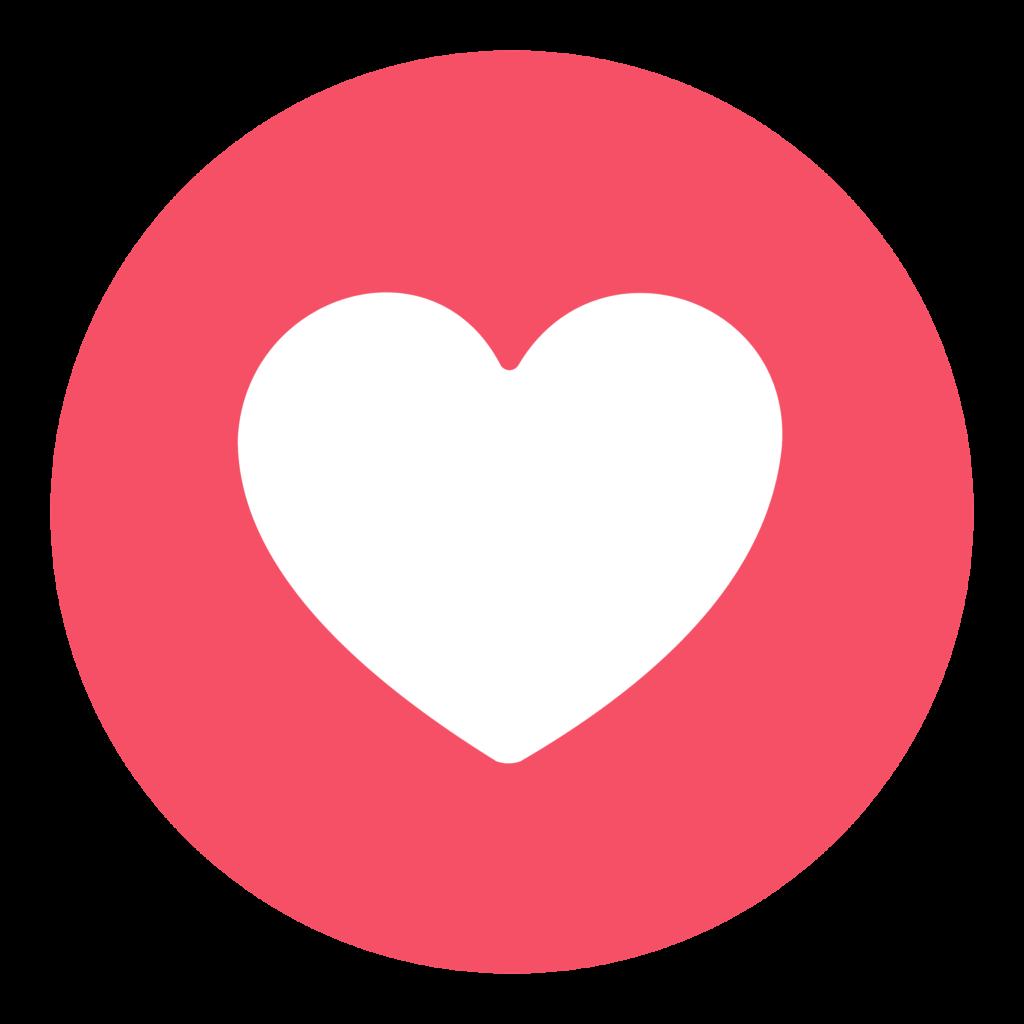 Facebook Circle Heart Love Png