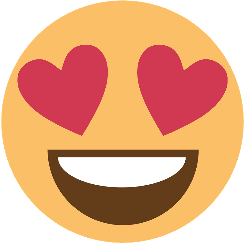 Smiling face with hearteyes emoji clipart Free download