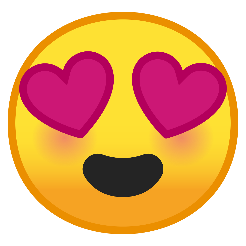 Smiling face with heart eyes Icon  Noto Emoji Smileys